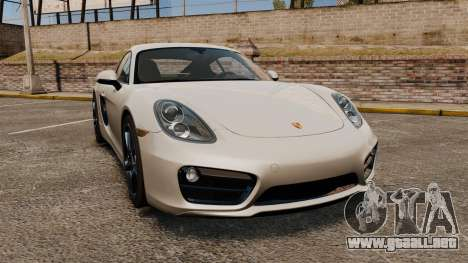 Porsche Cayman S 981C para GTA 4