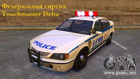 Sirena federal Touchmaster Delta para GTA 4