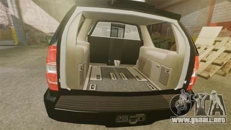 Chevrolet Tahoe 2008 LCPD STL-K Force [ELS] para GTA 4 vista interior