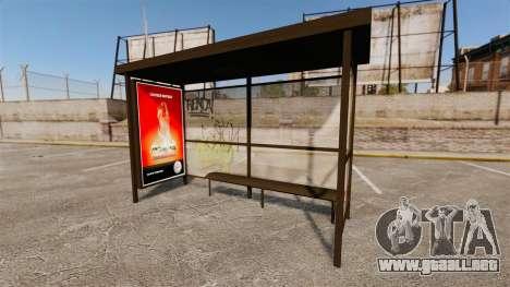 Nuevos carteles de publicidad en las paradas de  para GTA 4 adelante de pantalla