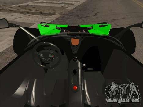 KTM Xbow R para GTA San Andreas vista hacia atrás