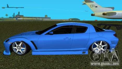 Mazda RX8 Type 1 para GTA Vice City vista posterior