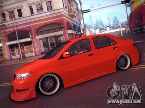 Toyota Vios Modified Indonesia para vista lateral GTA San Andreas