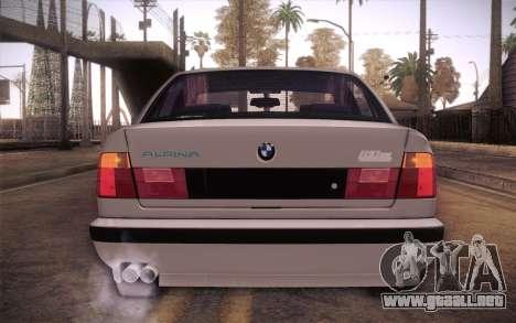 BMW E34 Alpina para GTA San Andreas vista hacia atrás