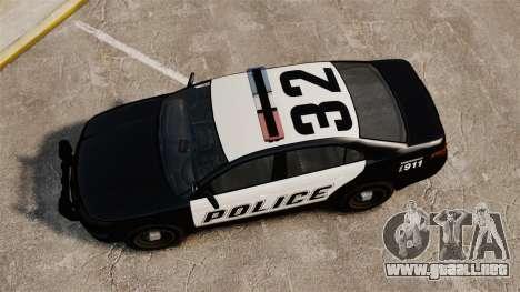 GTA V Vapid Police Interceptor [ELS] para GTA 4 visión correcta