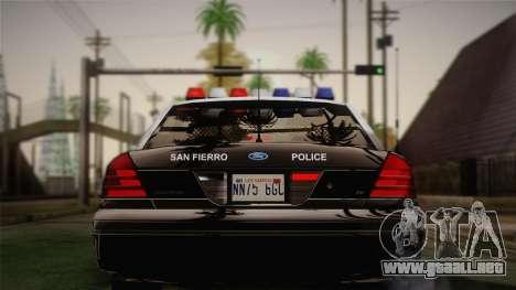 Ford Crown Victoria 2005 Police para la visión correcta GTA San Andreas