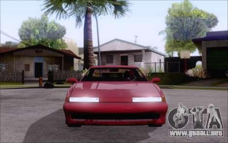 Uranus Fix para GTA San Andreas vista posterior izquierda