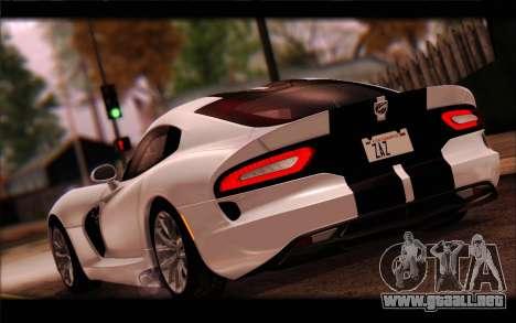 SRT Viper Autovista para la vista superior GTA San Andreas