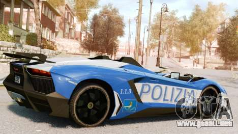 Lamborghini Aventador J Police para GTA 4 left