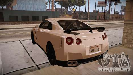 Nissan GT-R SpecV Ultimate Edition para visión interna GTA San Andreas