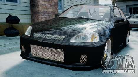 Honda Civic FnF para GTA 4 Vista posterior izquierda