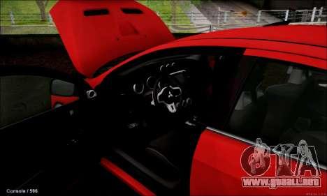 Mitsubishi Lancer Evolution X Stance Work para la visión correcta GTA San Andreas