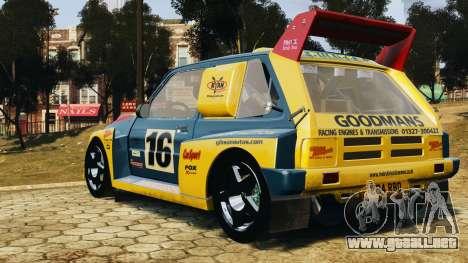 MG Metro 6r4 para GTA 4 left