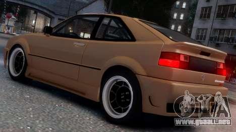 Volkswagen Corrado VR6 1995 para GTA 4 vista superior