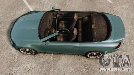 GTA V Zion XS Cabrio para GTA 4 visión correcta