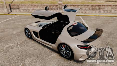 Mercedes-Benz SLS AMG Black Series 2014 para GTA 4 vista superior
