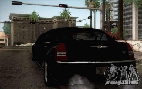 Chrysler 300C Limo 2007 para GTA San Andreas vista posterior izquierda