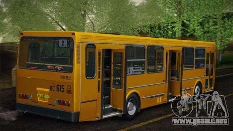 LIAZ 5256.00 Skin-Pack 5 para GTA San Andreas vista hacia atrás