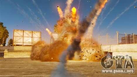 El nuevo escenario de incendios y explosiones para GTA 4 segundos de pantalla