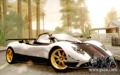 Pagani Zonda Cinque para la visión correcta GTA San Andreas