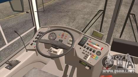 LIAZ 5256.57 2007 para visión interna GTA San Andreas