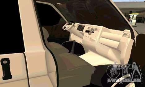 Volkswagen T4 para la visión correcta GTA San Andreas