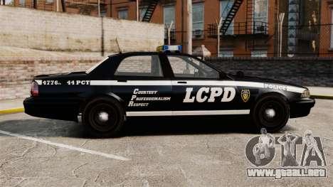 GTA V Vapid Police Cruiser [ELS] para GTA 4 left