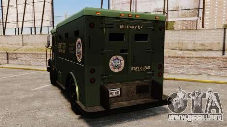 Military Enforcer para GTA 4 Vista posterior izquierda