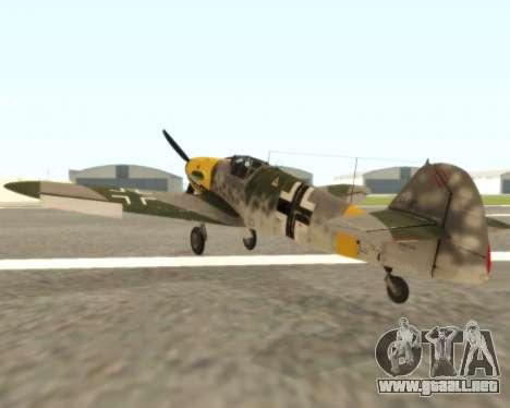 Bf-109 G6 v1.0 para la visión correcta GTA San Andreas