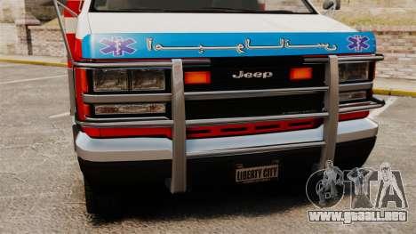 Ambulancia iraní para GTA 4 visión correcta