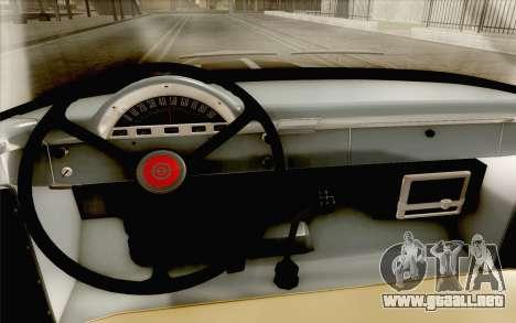Ford F100 1956 para GTA San Andreas vista hacia atrás