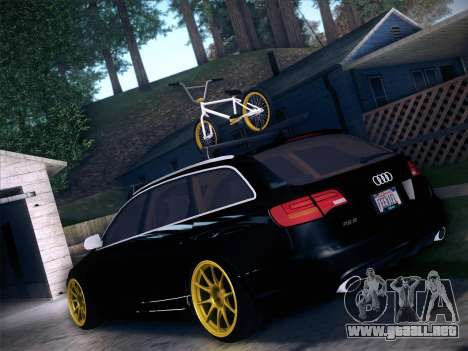 Audi Avant RS6 LowStance para GTA San Andreas vista posterior izquierda