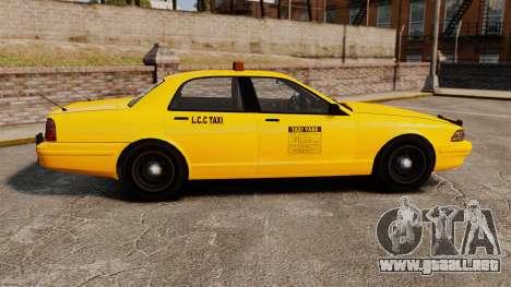 GTA V Gen Vapid LCC Taxi para GTA 4 left