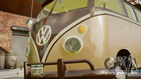 Volkswagen Transporter 1962 para GTA 4 vista interior