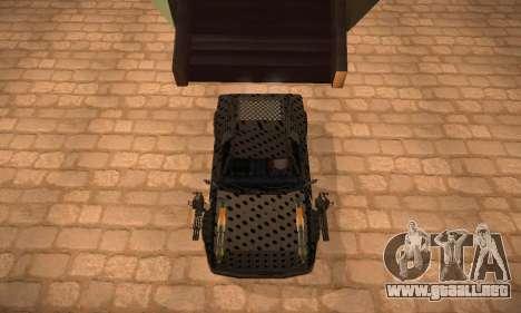 Cheetah Zomby Apocalypse para GTA San Andreas vista posterior izquierda