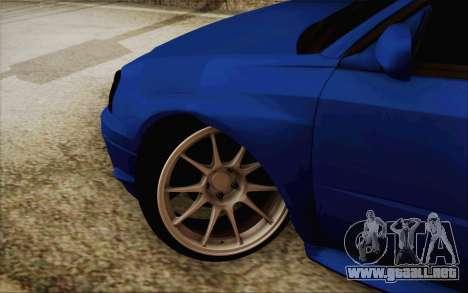 Subaru Impreza JDM para GTA San Andreas left