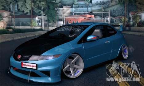 Honda Civic Type R Mugen para GTA San Andreas vista posterior izquierda
