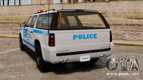 GTA V Declasse Police Ranger 3500PE [ELS] para GTA 4 Vista posterior izquierda