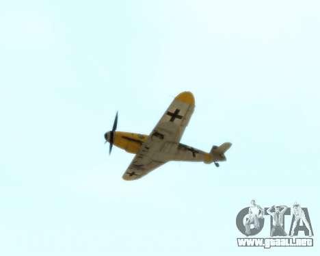 Bf-109 G6 v1.0 para visión interna GTA San Andreas