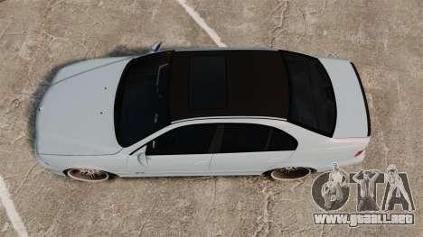 BMW M5 E39 2003 para GTA 4 visión correcta