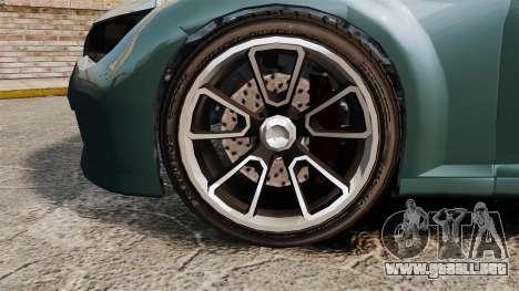 GTA V Zion XS Cabrio para GTA 4 vista hacia atrás
