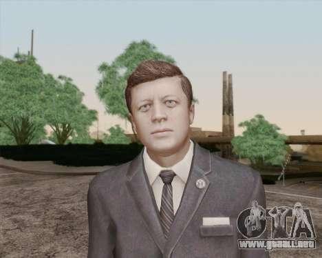 John Kennedy para GTA San Andreas tercera pantalla