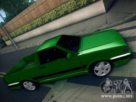 Volkswagen Saveiro 1994 para vista lateral GTA San Andreas