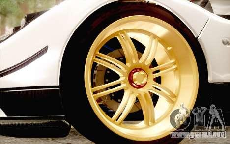 Pagani Zonda Cinque para vista lateral GTA San Andreas