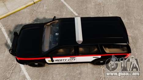 Chevrolet Tahoe 2008 LCPD STL-K Force [ELS] para GTA 4 visión correcta