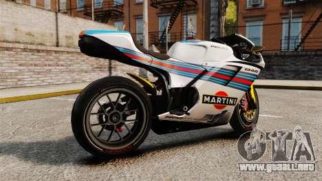 Ducati 848 Martini para GTA 4 left