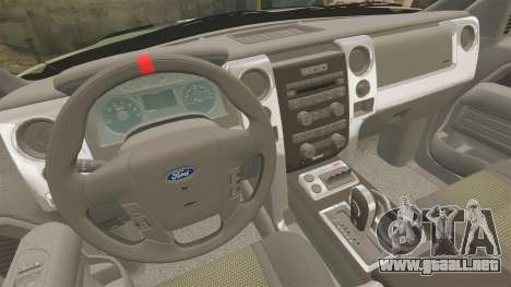 Ford F150 SVT 2011 Raptor Baja [EPM] para GTA 4 vista lateral