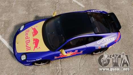 Porsche 911 Sport Classic 2010 Red Bull para GTA 4 visión correcta