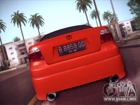 Toyota Vios Modified Indonesia para GTA San Andreas vista hacia atrás