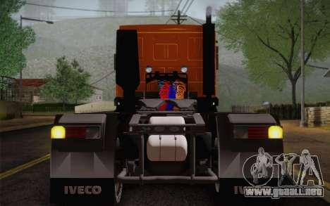 Iveco EuroTech 6x4 Doors para GTA San Andreas vista hacia atrás